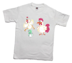 How to print a chicken, dinosaur, rooster on a T-shirt