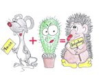 How to print a hedgehog, cactus, mouse on a T-shirt