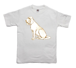 How to print a bloodhound on a T-shirt