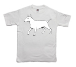 How to print a bull terrier on a T-shirt