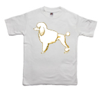 How to print a classical poodle on a T-shirt